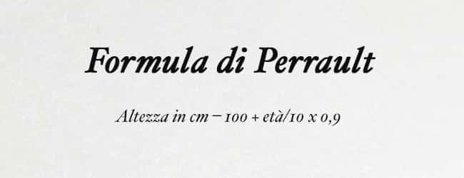 Formula di perrault per calcolare il peso ideale