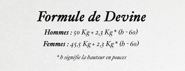 calculer son poids idéal avec la formule de devine