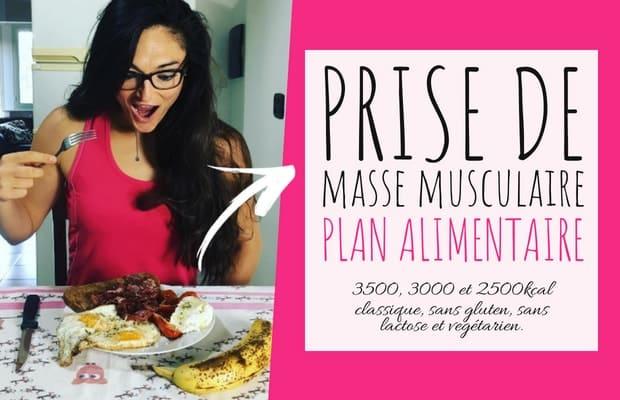 programme alimentaire pour la prise de masse en musculation