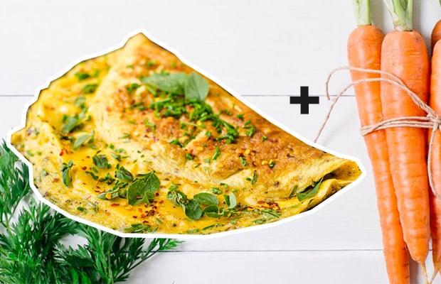 omelette dimagrante senza-glutine-senza lattosio ricetta dietetica