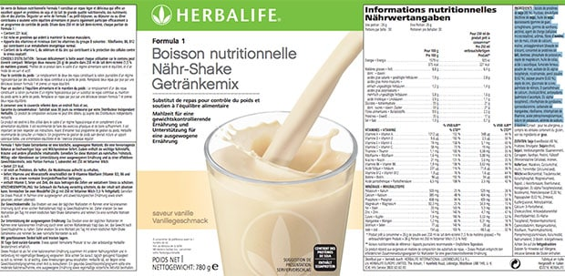 avis formula 1 herbalife