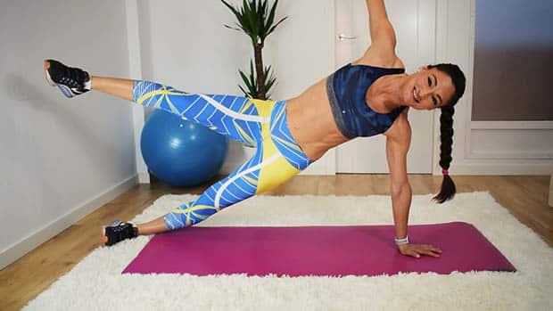 gainage abdo planche-laterale-etoile-bras-tendus
