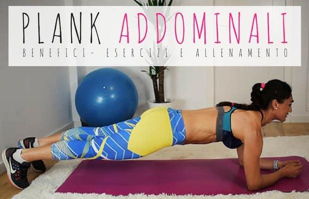 plank addominali esercizi