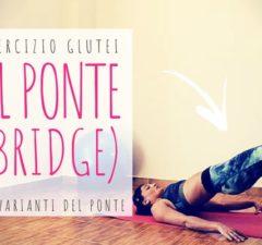 il ponte: esercizio glutei per le donne