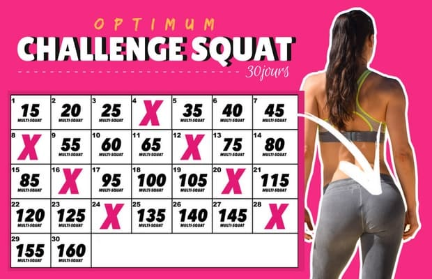 30 days Squat Challenge (version Optimum)